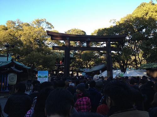 明治神宮に初詣に行ってきたよ!