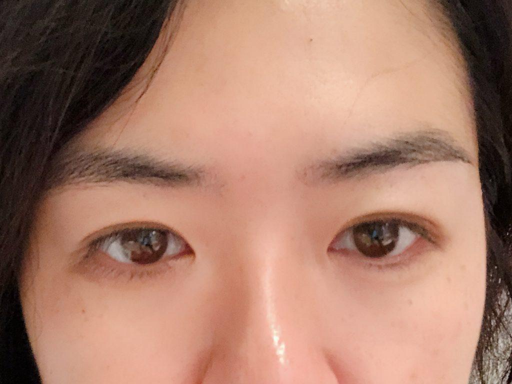 サロン前眉毛