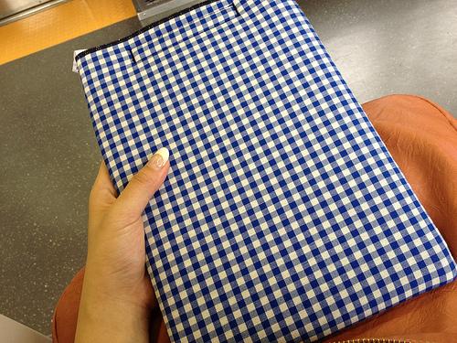 かわいいギンガムチェックのiPadケース買ったよ!