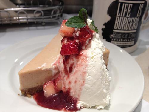 J.S. BURGERS CAFEでチーズケーキを食べたよ!!