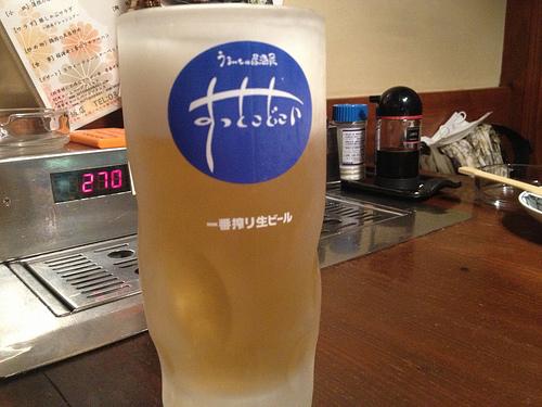 すっとこどっこい赤坂店でビールを飲んできたよ!