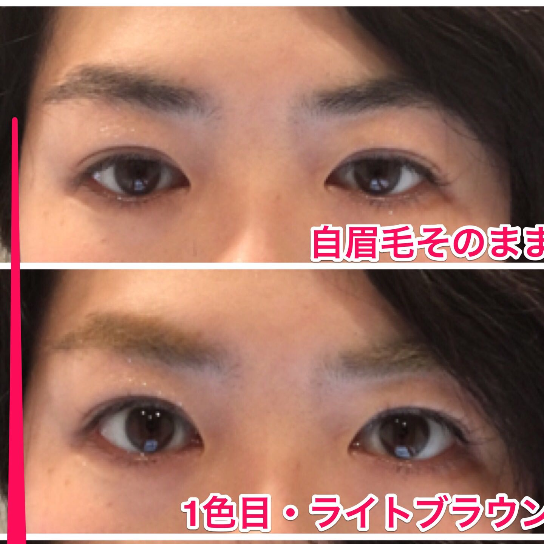 自眉毛が濃い!!そんな時の眉マスカラ2色使いはこんな感じだよ!!